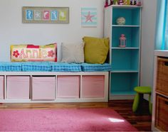 Girly, beachy room