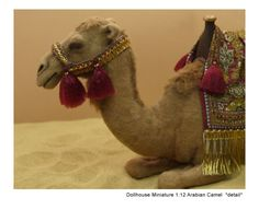 Nativity camel sculpture in 1:12 scale by Kerri Pajutee