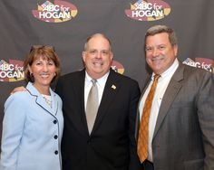 'ABC for Hogan' Host committee member Mike Wilmot and Kathy Wilmot are shown here with Governor Larry Hogan...