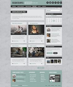Blog Page of Barcelona Wordpress Theme.