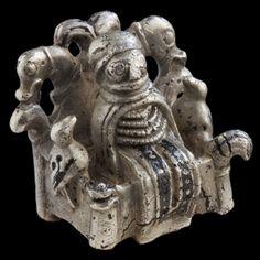 Odin, or volva figure, AD 800-1050, Lejre, Zealand, Denmark, © Roskilde Museum.