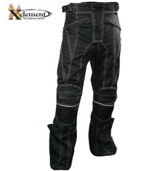 Xelement Men's Advanced Level-3 Black Tri-Tex White Stitched Fabric Motorcycle Pants   $89