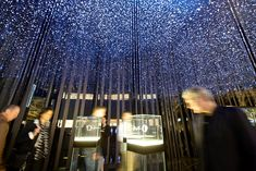 Over 50,000 watch movements hanging in the Citizen installation at Baselworld 2014