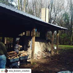 Nice kiln shed! Instagram photo by @woodfiredpotterykilns •  @wes_brown_creates