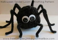 Spider Knitting Loom Pattern #knittinglooms #halloweencrafts #halloween…