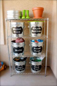 DIY Outdoor Toy Storage Ideas by DIY Ready at www.diyready.com/storage-solutions-life-hack/