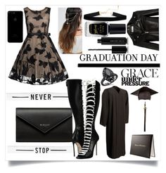 """Graduation Day"" by maddog3861 ❤ liked on Polyvore featuring Yves Saint Laurent, Dsquared2, Balenciaga, ASOS, Barry M and Marc Jacobs"