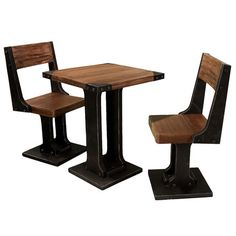 I pinned this 3 Piece Raquel Pub Table Set from the Maison du Moulin event at Joss and Main!