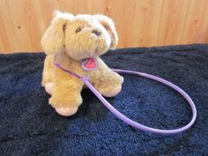 1996 Tuggles Plush Puppy Dog with tags and leash