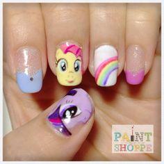 #paintshoppe #nails #nailart #littleponies #mylittleponies