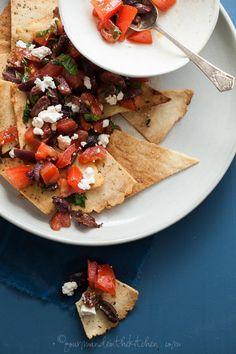 Grain-Free Pita Chip Mediterranean Style Nachos
