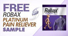 Free Robax Platinum Pain Reliever Sample