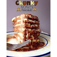 Chunky Monkey Pancakes Everyone knows about those delicious alcoholic beverages we get when on vacation somewhere hot called chunky monkeys. Tastes like a banana chocolate smoothie and you can drink...