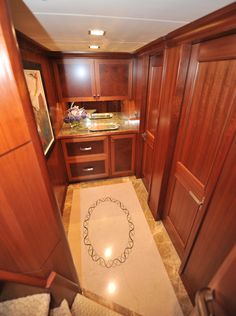 Nordhavn 120-Fwd Guest Foyer-Custom Yacht Interior Design-Destry Darr Designs