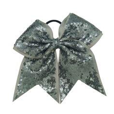 Gunmetal Sparkle Cheer Bow