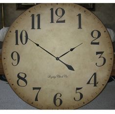 30 inch Large Wall Clock Tuscan Antique Style Arabic Personalized Custom Gallery