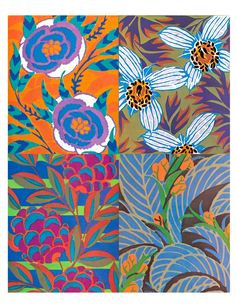 Draw Flower Patterns vintage patterns by E. Textile Patterns, Textile Design, Print Patterns, Floral Patterns, Art And Illustration, Vintage Illustrations, Vintage Pattern Design, Vintage Patterns, Vintage Textiles