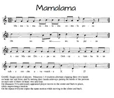 Mamalama fun movement song