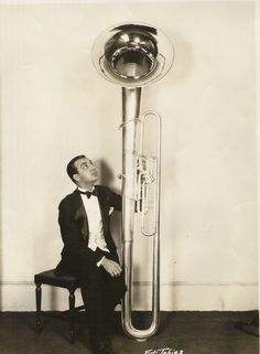 In the 1920s prominent tubist Joe Tarto had an 8 foot tall tuba made for him by King. It had interchangeable lead pipes, one for playing while sitting down, the other for while standing.