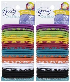 Goody Ouchless Thick Elastics 2 Mm Orted Colors 27 Ct By