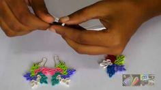 Paper Quilled Trendy Star Earrings Tutorial