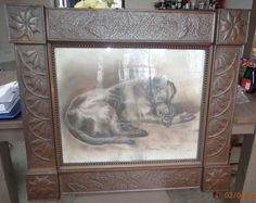 "Antique Arts Crafts Large Decorated Copper Picture Frame w Corner Blocks 27x31""  | eBay"