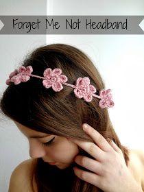 Little Treasures: Forget Me Not Headband - free tutorial