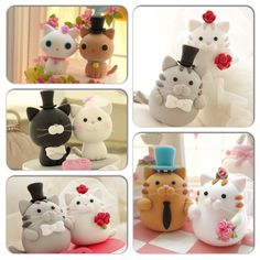 Cat cake toppers!!! :3
