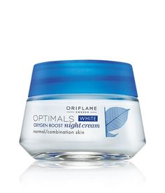 Oriflame Optimals White Oxygen Boost Night Cream Normal /Combination Skin 50gm #Oriflame
