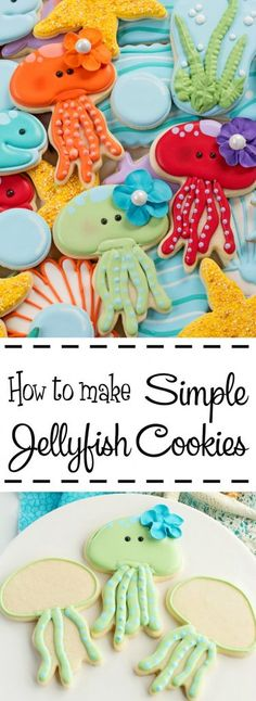 How to Make Simple Jellyfish Cookies with a Video   The Bearfoot Baker
