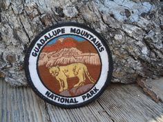 Guadalupe Mountains  National Park Vintage Embroidered Souvenir Patch by TheRustyChicken on Etsy