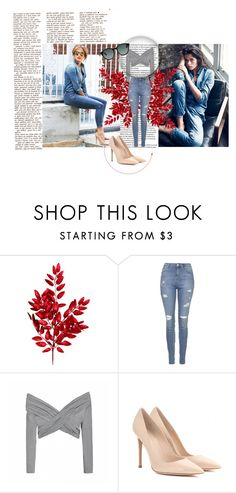 """blue jeans"" by dina-97 ❤ liked on Polyvore featuring Topshop, Ally Fashion and Gianvito Rossi"