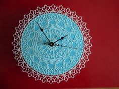 Your place to buy and sell all things handmade Blue Clocks, Soft Plastic, Doilies, Tatting, Mosaic, Textiles, Inspire, Diy Crafts, Crafty