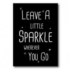 Sparkle wherever you go ★