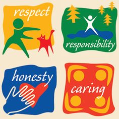 YMCA Core Values: Respect, Responsibility, Honesty and Caring