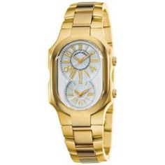 Philip Stein Women's 'Signature' Yellow Goldtone Watch - Overstock™ Shopping - Big Discounts on Philip Stein Philip Stein Women's Watches