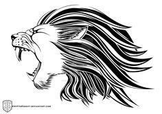 Lion Head Tribal by KryptnKnight.deviantart.com on @DeviantArt
