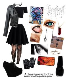 """""""Me in winter """" by drew-banner ❤ liked on Polyvore featuring Pretty Polly, Chicwish, American Apparel, Forever Link, Charlotte Russe, Kenneth Jay Lane, Bling Jewelry and CellPowerCases"""