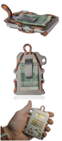 Calti - Tactic Titanium Minimalist Slim Wallet And Cardholder