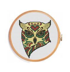 Sugar skull Owl cross stitch pattern by PatternsCrossStitch, $3.00