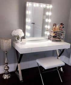 Vanity mirror with desk lights home remedydiy pinterest websta impressionsvanity oh my glamorous gorgeous glam space from ft mozeypictures Choice Image