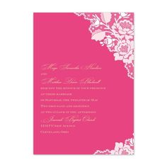 Lace themed wedding invitation in any color #cheap #bargain