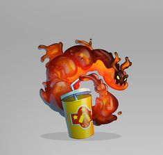 Concepts created for the Game Dragon City. I've designed the complete Fast Food themed island. Dragon City, Bowser, Illustrations, Island, Artwork, Food, Work Of Art, Auguste Rodin Artwork, Illustration