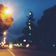 Christmas has arrived and the trees are starting to get lit up! A little bit of joy on a dreary rainy drive.