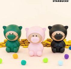 Starbucks Korea 2019 New year Pig Money Bank (Pink Color) Starbucks Merchandise, Money Bank, Pink Color, Pikachu, Korea, Teddy Bear, Toys, Animals, Ebay