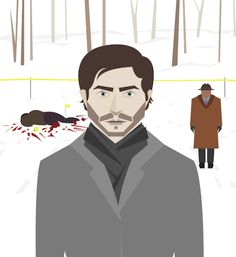 gif Illustration art Fanart animation nbc hannibal hannibal lecter after effects will graham This is my Design Shiizakana