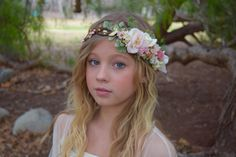 Hey, I found this really awesome Etsy listing at https://www.etsy.com/ca/listing/263506445/blush-ivory-gold-flower-crown-blush