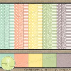 Digital Scrapbooking Spring Papers 2012 Pack #DandelionDustDesigns #DigitalScrapbooking
