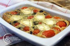 Clafoutis aux tomates cerises, olives noires et chèvre : la recette facile