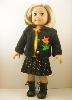 Fits 18 Inch Dolls Hand Knit Sweater T Shirt  and by dressurdolly2, $35.00